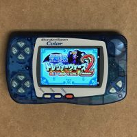 Crystal Blue WonderSwan Color With IPS LCD Installed